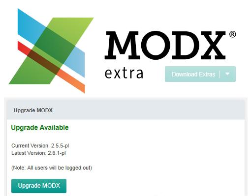 UpgradeMODX extra/extension for MODX