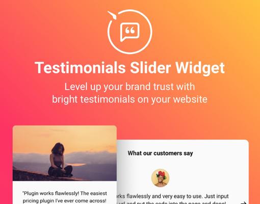 Widget partage témoignage clients