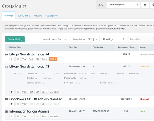 Système de newsletter intégré à MODX